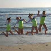 Edgewater Classic Gymnasts On Beach