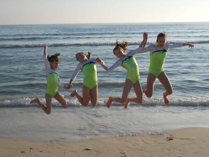 Edgewater Classic Gymnasts On Beach